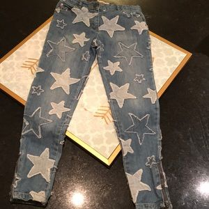 Stella McCartney Kids Star Jeans Zipper Hem Size 8